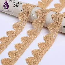 gold lace ribbon gold floral water soluble lace trimming silver flower lace ribbon
