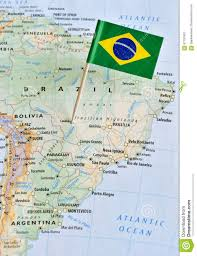 Cordoba World Map by Brazil Flag Pin On Map Stock Photo Image 67757891