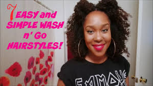 wash and go hairstyles 7 quick and fun hairstyles for a wash n go youtube