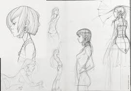 artstation sketches girls 01 occultart