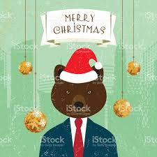 greeting card santa klaus hat businessman banner