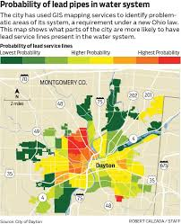 dayton map dayton ohio working to identify problem areas for lead pipes