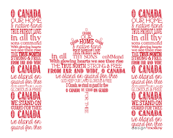 canadian thanksgiving quotes o canada national anthem flag word art print by designmolloy