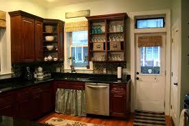 kitchen dark cherry kitchen cabinets spray painting kitchen
