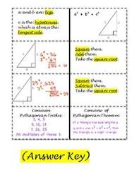 pythagorean theorem foldable notes inside interactive math