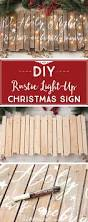 Wood Projects For Christmas Presents by Diy Rustic Light Up Christmas Sign Holy Night Diy Christmas And