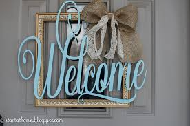 diy welcome door hanger start at home decor