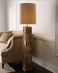 wonderful natural wood floor lamp that made of mango and iron home