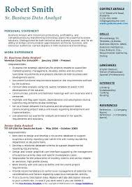 data analyst resume business data analyst resume sles qwikresume
