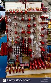 white silver decorations on a merchandising