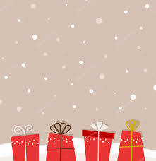 retro christmas snowing background with gifts u2014 stock vector