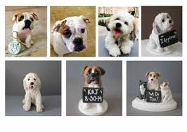 dog cake toppers this listing is for a dog wedding cake topper figurine which