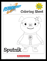 astroblast sputnik coloring sheet parents scholastic com