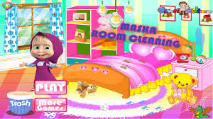 masha room cleaning game masha and the bear video games for