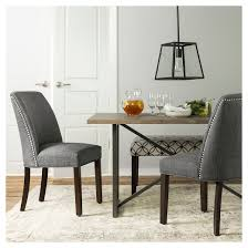 Dining Room Sets With Fabric Chairs by Wynnefield Mixed Material Trestle Dining Table Threshold Target
