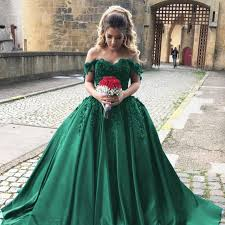 green wedding dresses satin prom dresses gowns