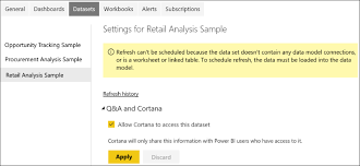 set up and test cortana for power bi in your organization windows