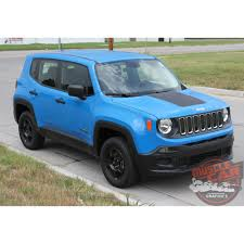 matte maroon jeep jeep renegade hood trailhawk style center hood blackout decal