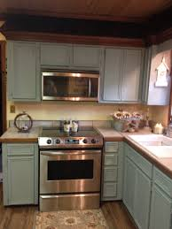 Next Kitchen Furniture Updating My Old Oak Cabinets To Anne Sloan Chalk Paint Duck Egg