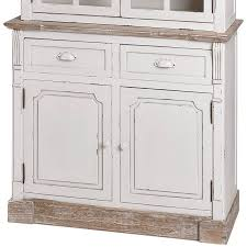 Lyon Range Antique White Kitchen Display Glazed Cabinet Melody - Kitchen display cabinet