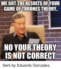 Meme Theory - we got theresults ofyour no your theory is not correct imgflipcom