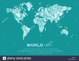 world map background in polygonal style abstract origami color