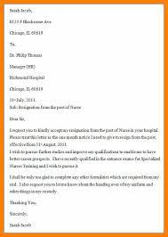 8 resignation letter from hospital samples quotation samples
