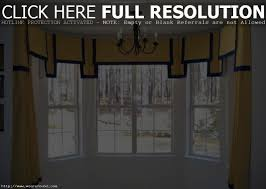bay windows using yellow curtains and valances different types bow