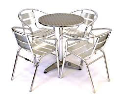 Aluminum Bistro Table And Chairs Folding Portable Table For Sale In Uk Cing Table Pinterest