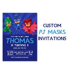 80 party invitations pj masks inspired birthday invitation custom party invite pj