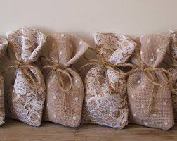 tulle bags rustic wedding 50 pc favor bags burlap lace tulle 3x5inch