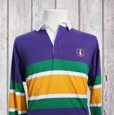 mardi gras polo shirt mardi gras rugby shirt purple with mg stripes