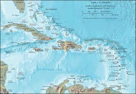 America North And South Map by Cia Map Of The Caribbean A Crescent Shaped Group Of Islands East