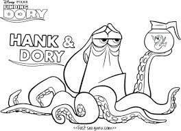finding dory coloring pages hank coloring