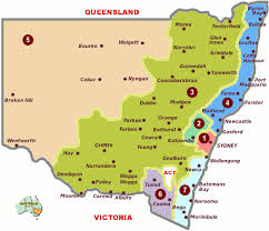 map of new south wales regions cities towns of new south wales travel nsw