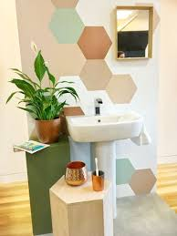 paint or wallpaper geometric wall either with paint or wallpaper great small