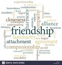 thanksgiving word search illustration of the word friendship in word clouds isolated on