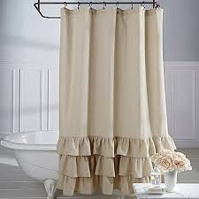 Ruffled Shower Curtains Veratex Vintage Ruffle Shower Curtain Bed Bath Beyond