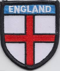 Englang Flag England St George Shield Flag Embroidered Badge A063m