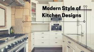 be modern with these modern style of kitchen designs with