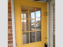 Frame Exterior Door How To Replace A Glass Frame In An Exterior Door