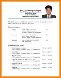Resume Format For Ojt Career Objective Sample For Ojt Students Youtuf Com