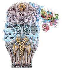 samurai armor full sleeve tattoo design cris luspo tattoo designs