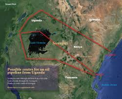 Shortest Route Map by Oil Pipeline Through The Serengeti Serengeti Watch