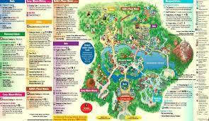 Map Of Disney World Parks January 2016 Walt Disney World Park Maps Throughout Animal Kingdom