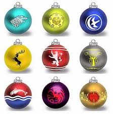 this listing is for a set of six of thrones ornaments laser