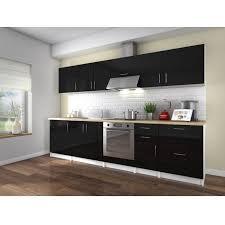 cuisine 3m de cuisine equipee noir laque pas cher table de cuisine moderne