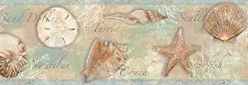chesapeake bbc46051b quinten seashells toss wallpaper border blue