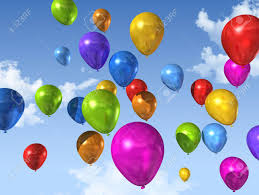 balloons that float colored air balloons floating on a blue sky stock photo picture and