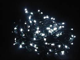 white led lights with 50 5mm led wire and 0 on